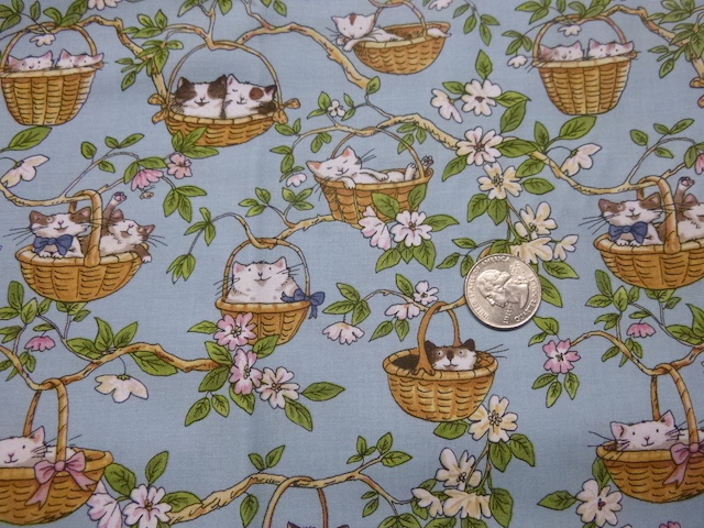 Cats in Baskets fabric for custom bags Zoe's Bag Boutique'