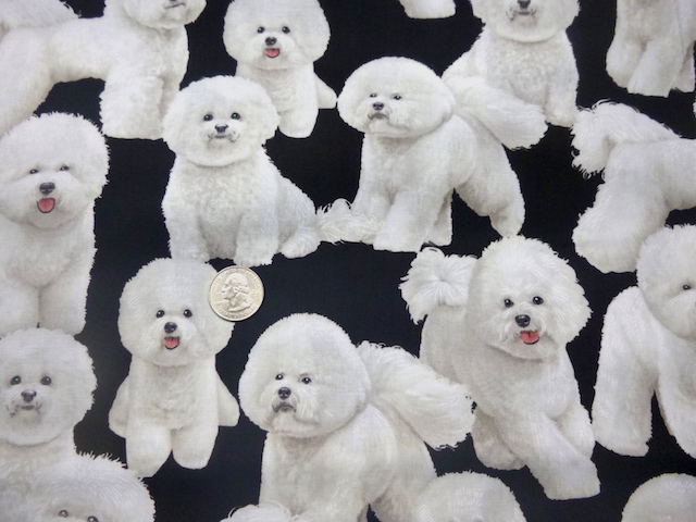 Bichon Frise fabric for custom bags Zoe's Bag Boutique