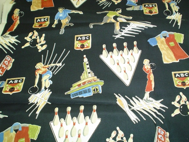 50's bowling fabric for custom bags Zoe's Bag Boutique