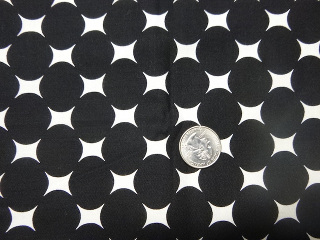 Black dots on white fabric for custom bags Zoe's Bag Boutique