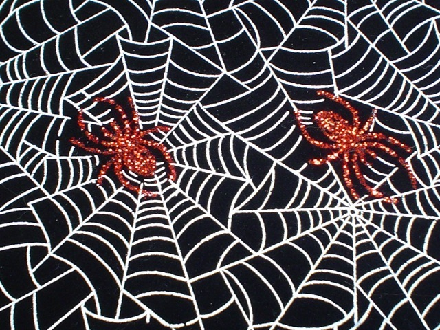 Spiderweb fabric for custom bags Zoe's Bag Boutique