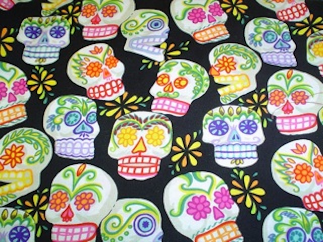Day of the Dead fabrics for custom made bags at Zoe's Bag Boutique