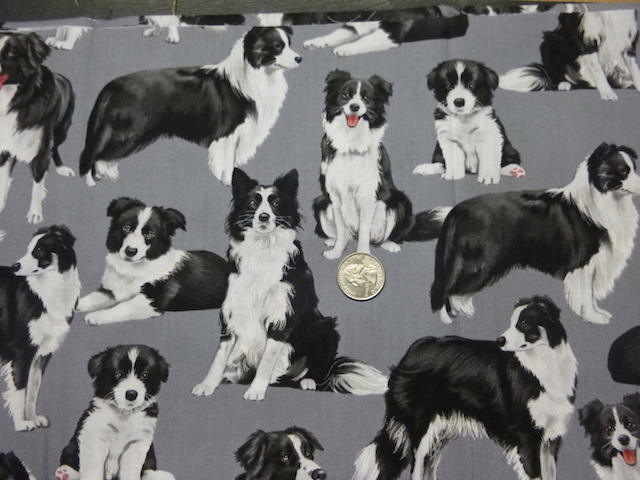 Border Collies fabric for custom bags Zoe's Bag Boutique