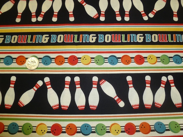 Bowling fabrics for custom bags at Zoe's Bag Boutique