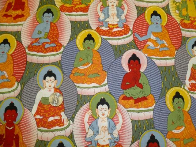 Buddha fabric for custom bags Zoe's Bag Boutique