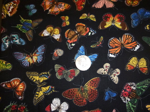 Butterflies on Black fabric for custom bags Zoe's Bag Boutique