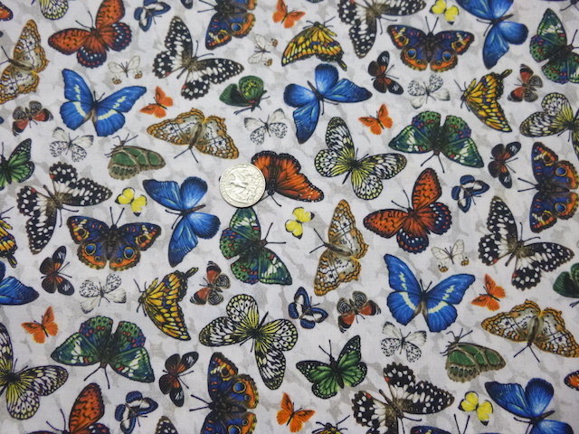 Butterflies on white fabric for custom bags Zoe's Bag Boutique