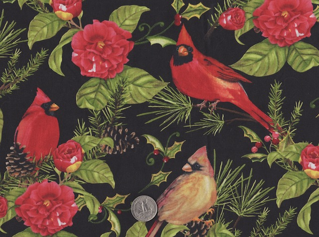 cardinals fabric for custom made bags at Zoe's Bag Boutique