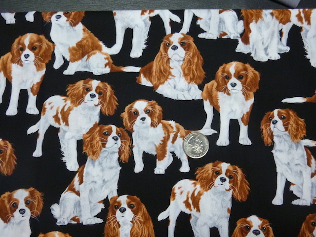 Cavalier King Charles Spaniels fabric for custom bags Zoe's Bag Boutique