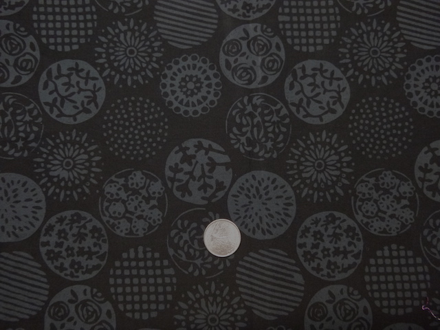 Charcoal circles fabric for custom bags Zoe's Bag Boutique