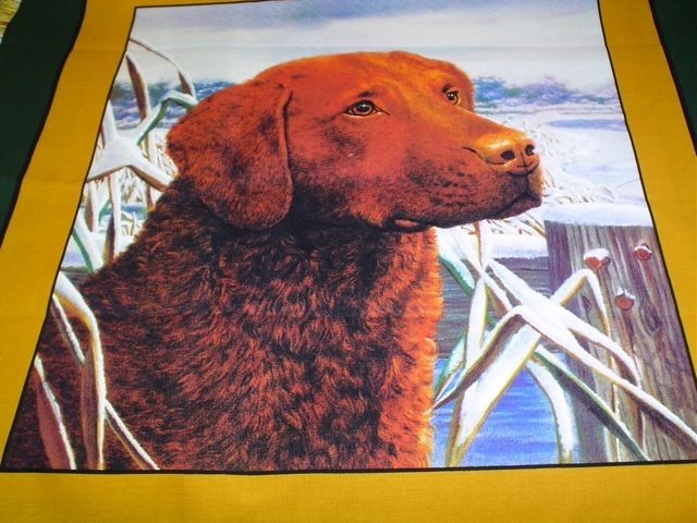 Chesapeake Bay Retriever fabric for custom bags Zoe's Bag Boutique