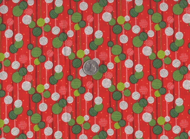 Christmas knitting fabric for custom made bags at Zoe's Bag Boutique