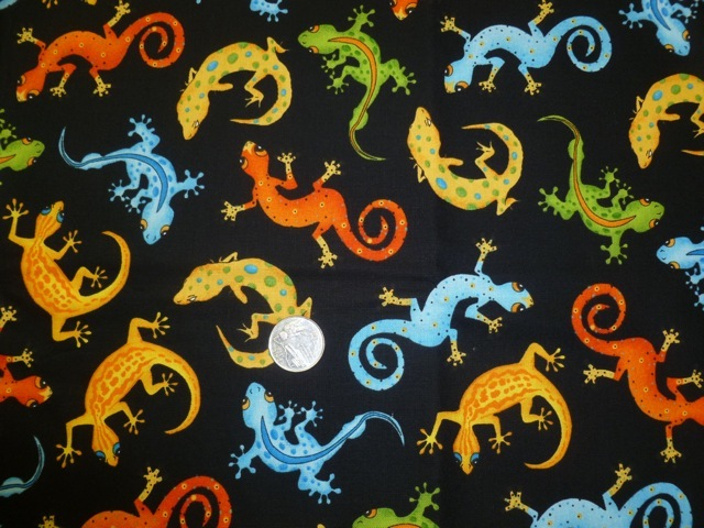 Geckos fabric for custom bags Zoe's Bag Boutique