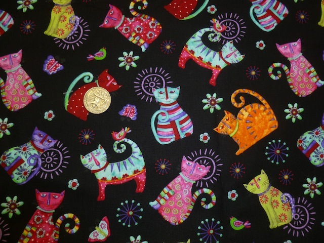 Cool Cats fabric for custom bags Zoe's Bag Boutique