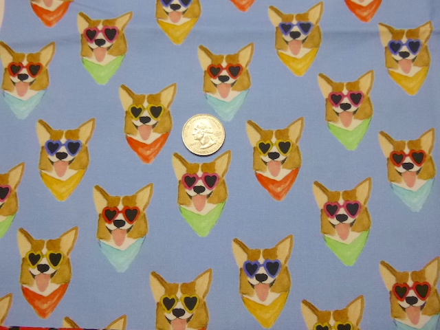 Corgie fabric for custom bags Zoe's Bag Boutique