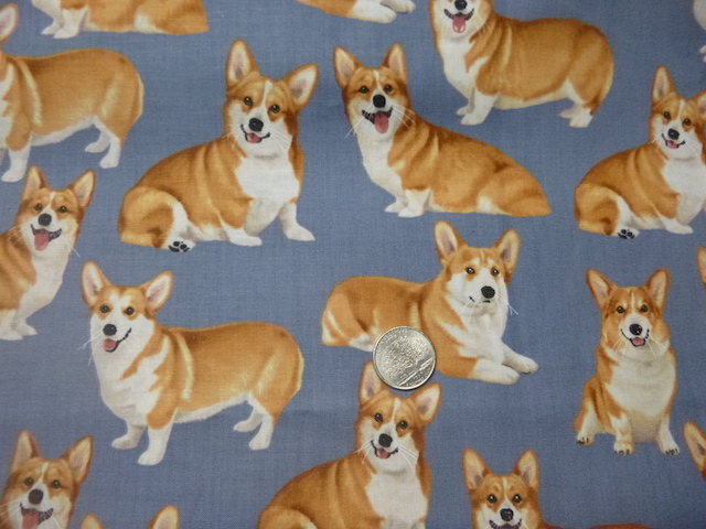 Corgis fabric for custom bags Zoe's Bag Boutique
