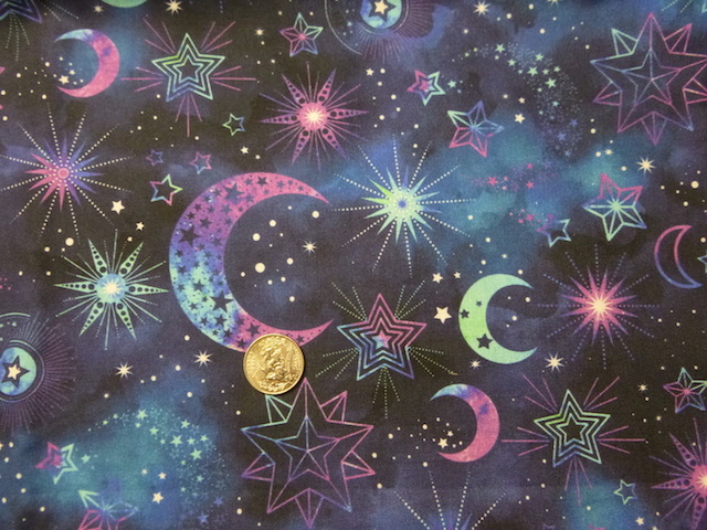 Moons and stars fabric for custom bags Zoe's Bag Boutique