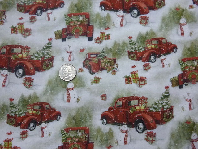 Red Truck Christmas fabric for custom bags Zoe's Bag Boutique