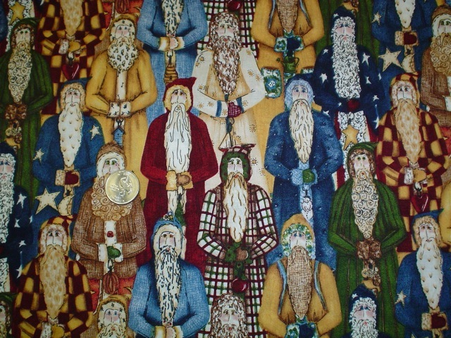 Country Santas fabric for custom bags Zoe's Bag Boutique