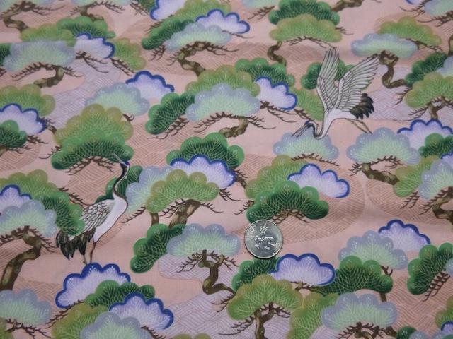 Cranes and bonsai fabric for custom bags Zoe's Bag Boutique