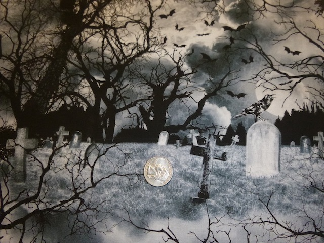 Crow's Graveyard fabric for custom bags Zoe's Bag Boutique