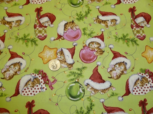 Cute Christmas kittens fabric for custom bags Zoe's Bag Boutique