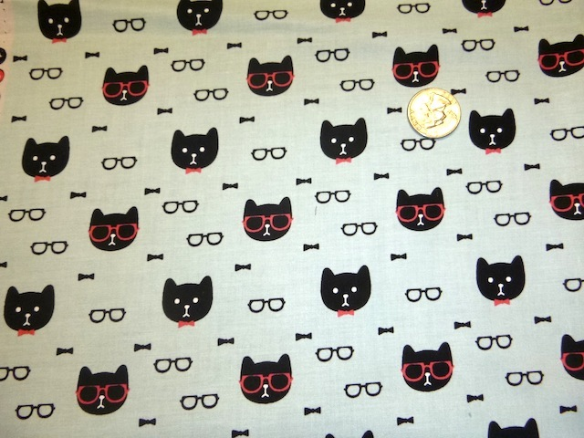 Dapper Cats fabric for custom bags Zoe's Bag Boutique
