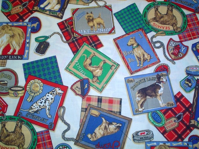 Dogs fabric for custom bags Zoe's Bag Boutique