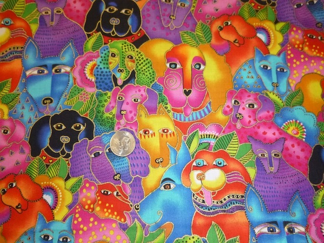 Laurel Burch Dogs and Doggies fabric for custom bags Zoe's Bag Boutique