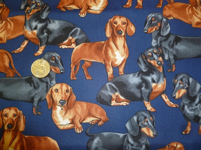 Dachshunds fabric for custom bags Zoe's Bag Boutique