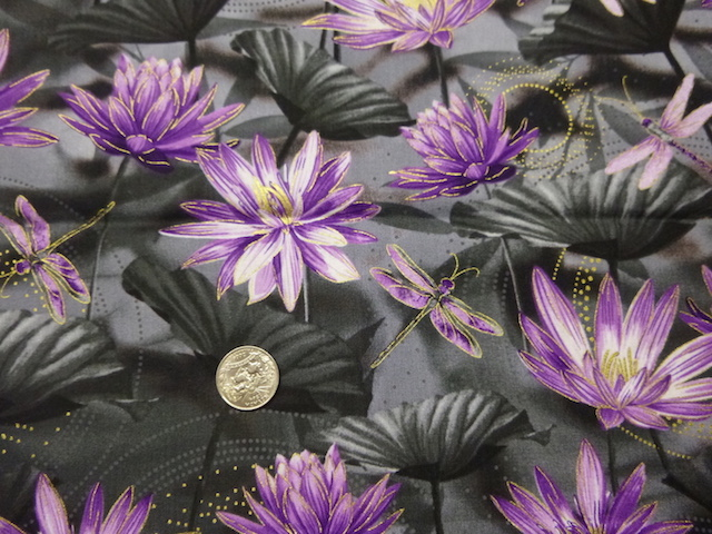 Dragonflies water lillies fabric for custom bags Zoe's Bag Boutique