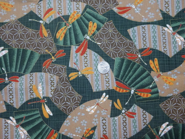 Dragonflies green fabric for custom bags Zoe's Bag Boutique