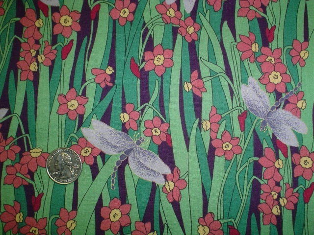 Dragonflies on grass fabric for custom bags Zoe's Bag Boutique