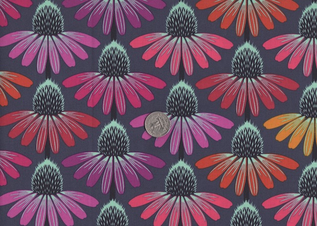 Echinacea purple fabric for custom bags at Zoe's Bag Boutique