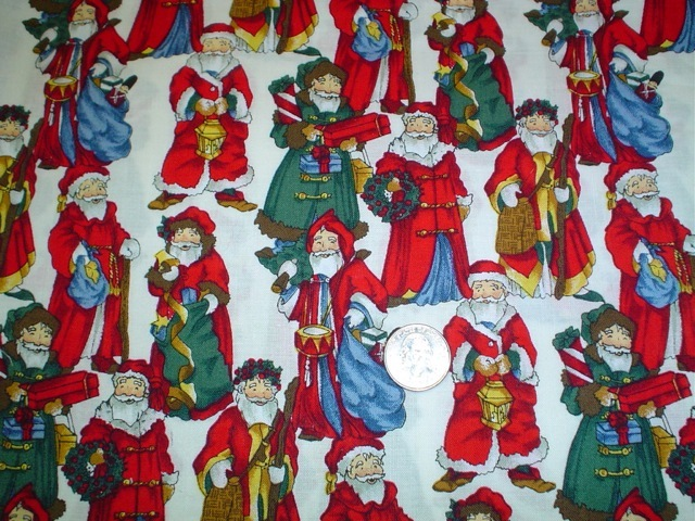 European Santas fabric for custom bags Zoe's Bag Boutique