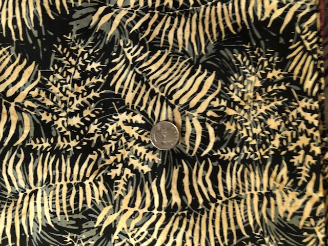 Brown ferns batik fabric for custom made bags at Zoe's Bag Boutique