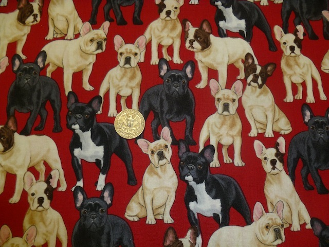 French Bulldogs fabric for custom bags Zoe's Bag Boutique