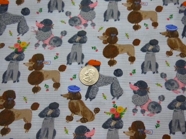 French Poodles fabric for custom bags Zoe's Bag Boutique