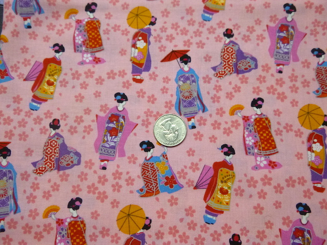 Geisha pink fabric for custom bags Zoe's Bag Boutique