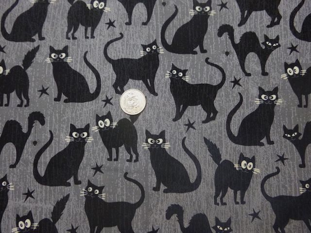 Glow in the Dark Cats fabric for custom bags Zoe's Bag Boutique