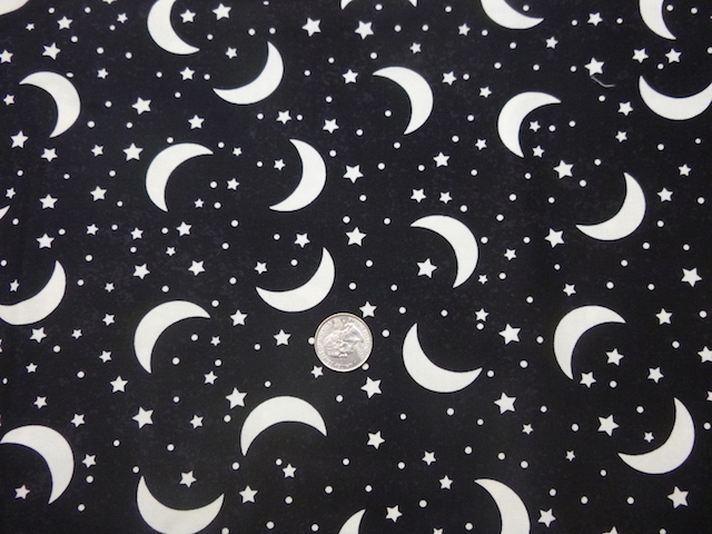 Glow in the dark moons fabric for custom bags Zoe's Bag Boutique