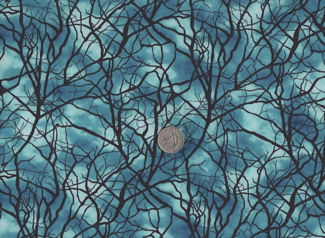Glow in the dark trees fabric for custom bags at Zoe's Bag Boutique