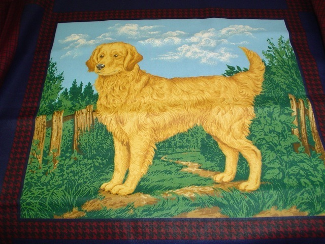 Golden Retriever fabric for custom bags Zoe's Bag Boutique