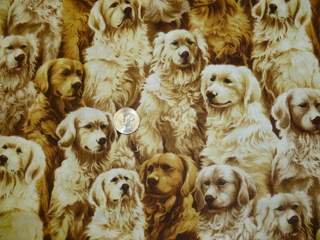 Golden Retrievers fabric for custom bags Zoe's Bag Boutique