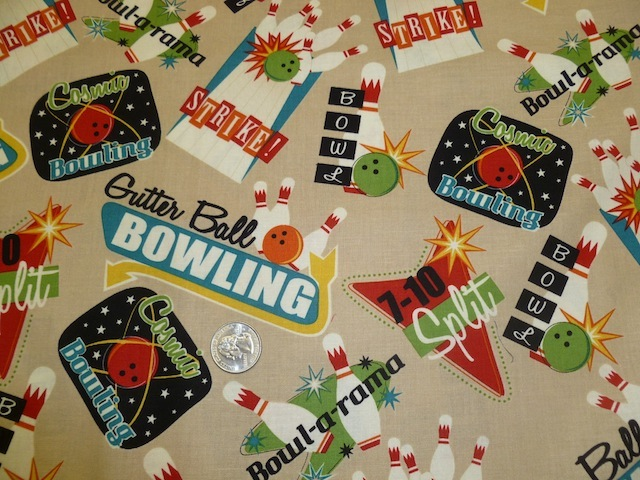 Gutterball Bowling fabric for custom bags Zoe's Bag Boutique'