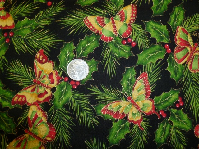 Christmas butterflies fabric for custom bags Zoe's Bag Boutique