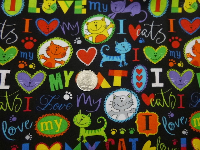 I love my cat fabric for custom bags Zoe's Bag Boutique