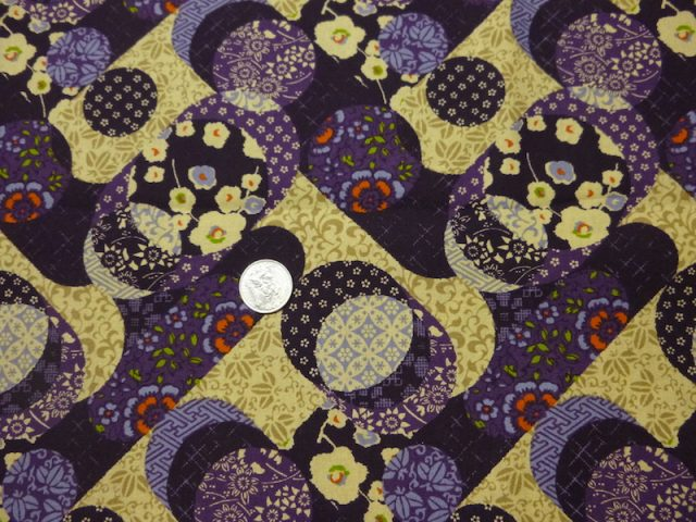 Japanese circles fabric for custom bags Zoe's Bag Boutique