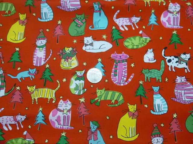 Christmas cats fabric for custom bags Zoe's Bag Boutique