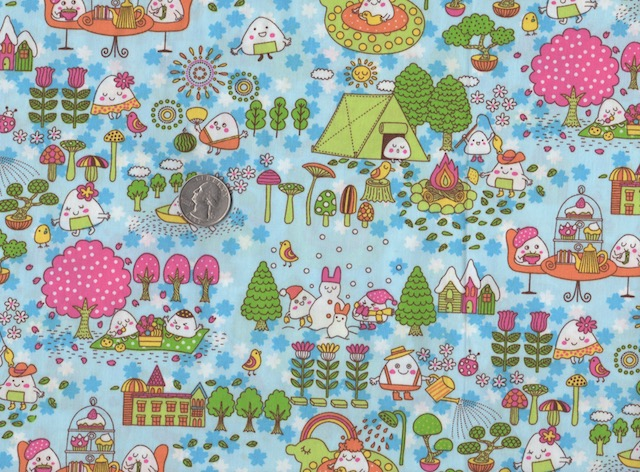 Kawaii fabric for custom bags at Zoe's Bag Boutique